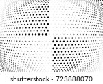 abstract halftone wave dotted... | Shutterstock .eps vector #723888070