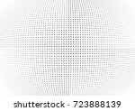 abstract halftone wave dotted... | Shutterstock .eps vector #723888139