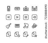 miscellaneous music icon set | Shutterstock .eps vector #723888490
