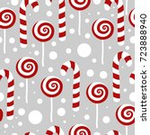 candy seamless christmas... | Shutterstock .eps vector #723888940