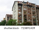 residential building in novi... | Shutterstock . vector #723891439