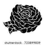 flower rose  monochrome.... | Shutterstock .eps vector #723899839