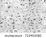 halftone black and white.... | Shutterstock .eps vector #723903580