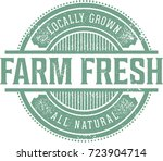 farm fresh vintage product label | Shutterstock .eps vector #723904714