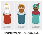 tags of the three wise men ... | Shutterstock .eps vector #723907468