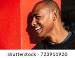 close up portrait of a happy... | Shutterstock . vector #723911920