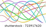 colorful line strips of ribbon  ... | Shutterstock .eps vector #723917620