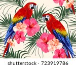 beautiful seamless vector... | Shutterstock .eps vector #723919786