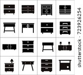 chest of drawers vector icon.... | Shutterstock .eps vector #723926254