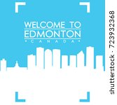 welcome to edmonton skyline... | Shutterstock .eps vector #723932368