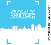 welcome to harrisburg skyline... | Shutterstock .eps vector #723932464