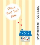 happy house message | Shutterstock .eps vector #72393307