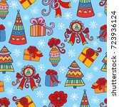 christmas and new year seamless ...   Shutterstock .eps vector #723936124