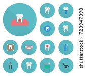 flat icons stomatology  tooth...   Shutterstock .eps vector #723947398