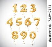 raster copy golden number... | Shutterstock . vector #723947878