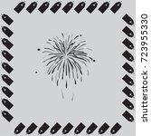 firework vector icon | Shutterstock .eps vector #723955330