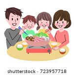 illustration of a family... | Shutterstock .eps vector #723957718