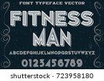 vintage font typeface ... | Shutterstock .eps vector #723958180