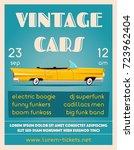 vintage car show banner. old... | Shutterstock .eps vector #723962404