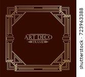 vintage retro art deco frame... | Shutterstock .eps vector #723963388