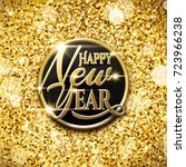 happy new year and merry... | Shutterstock .eps vector #723966238