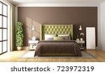 brown and green master bedroom... | Shutterstock . vector #723972319