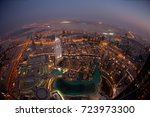 aerial view of downtown dubai... | Shutterstock . vector #723973300