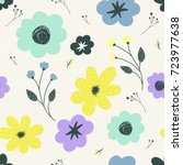 trendy vector seamless pattern...   Shutterstock .eps vector #723977638
