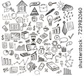 hand drawn business symbols  | Shutterstock . vector #723982060