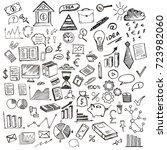 hand drawn business symbols  | Shutterstock . vector #723982060