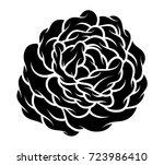 flower rose  black and white.... | Shutterstock .eps vector #723986410