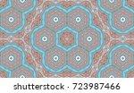seamless circular vector... | Shutterstock .eps vector #723987466