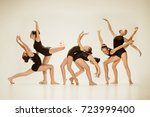 the group of modern ballet... | Shutterstock . vector #723999400