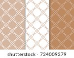 brown and white geometric... | Shutterstock .eps vector #724009279
