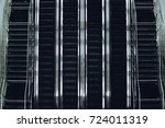 top view of contemporary glass... | Shutterstock . vector #724011319