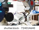 overlock sewing machine   view... | Shutterstock . vector #724014640