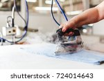 professional ironing in dry... | Shutterstock . vector #724014643