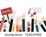 voting concept in flat style | Shutterstock .eps vector #724019983
