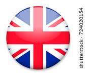 flag of uk in the form of a... | Shutterstock . vector #724020154