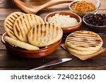 breakfast typical of latin... | Shutterstock . vector #724021060