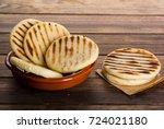 breakfast typical of latin... | Shutterstock . vector #724021180