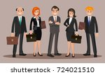 vector illustration of office... | Shutterstock .eps vector #724021510