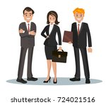 vector illustration of office... | Shutterstock .eps vector #724021516
