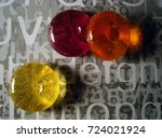 colorful candies on textured... | Shutterstock . vector #724021924