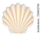 shells in beige tones. summer...   Shutterstock . vector #724022743