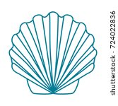 contour shell scallop. template ...   Shutterstock . vector #724022836