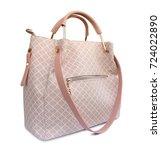 women leather handbag isolated... | Shutterstock . vector #724022890