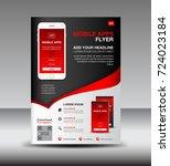 mobile apps flyer template.... | Shutterstock .eps vector #724023184