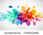 abstract colored flower...   Shutterstock .eps vector #724032484