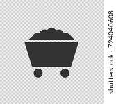 coal cart vector icon eps 10.... | Shutterstock .eps vector #724040608